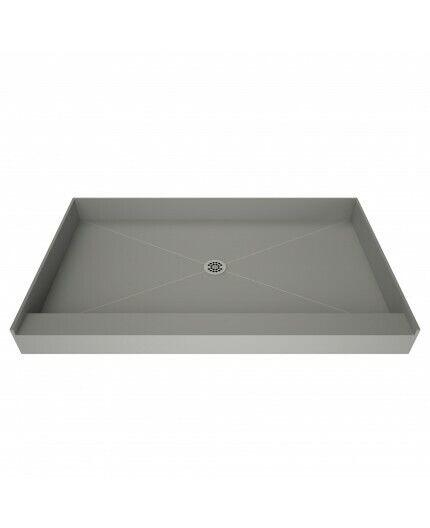 tile redi single curb square shower base 3232c pvc size 48w x 34d