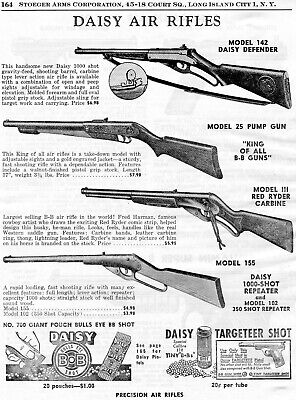 1954 Print Ad of Daisy Model 142 Defender 25 111 Red Ryder