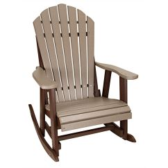 Amish Made Rocking Chair Cushions Plus Size Office Chairs Uk New Outer Banks Poly Lumber Adirondack Rocker
