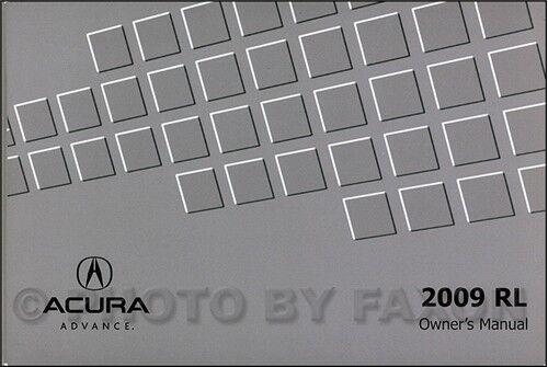 2009 Acura RL Owners Manual NEW Original Owner Guide Book
