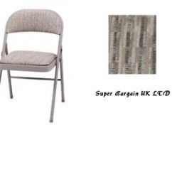 Padded Folding Chairs Uk Karlstad Chair Slipcover Deluxe Comfort High Quality Steel Fabric Image Is Loading