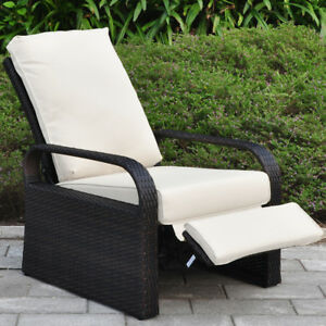 all weather wicker outdoor chairs extra large moon chair with ottoman recliner louger cushion image is loading