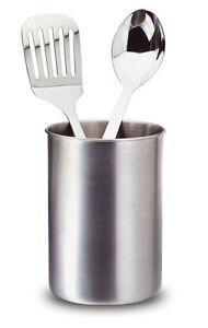 kitchen tool crock glass tile for backsplash toolbar caddy utensil holder stainless steel image is loading