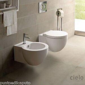 Sanitari bagno sospesi easy bath evo water bidet e copriwater di Ceramica Cielo  eBay