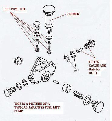 DIESEL HAND PRIMER LIFT PUMP KIT for TOYOTA H 2H B 3B 14B