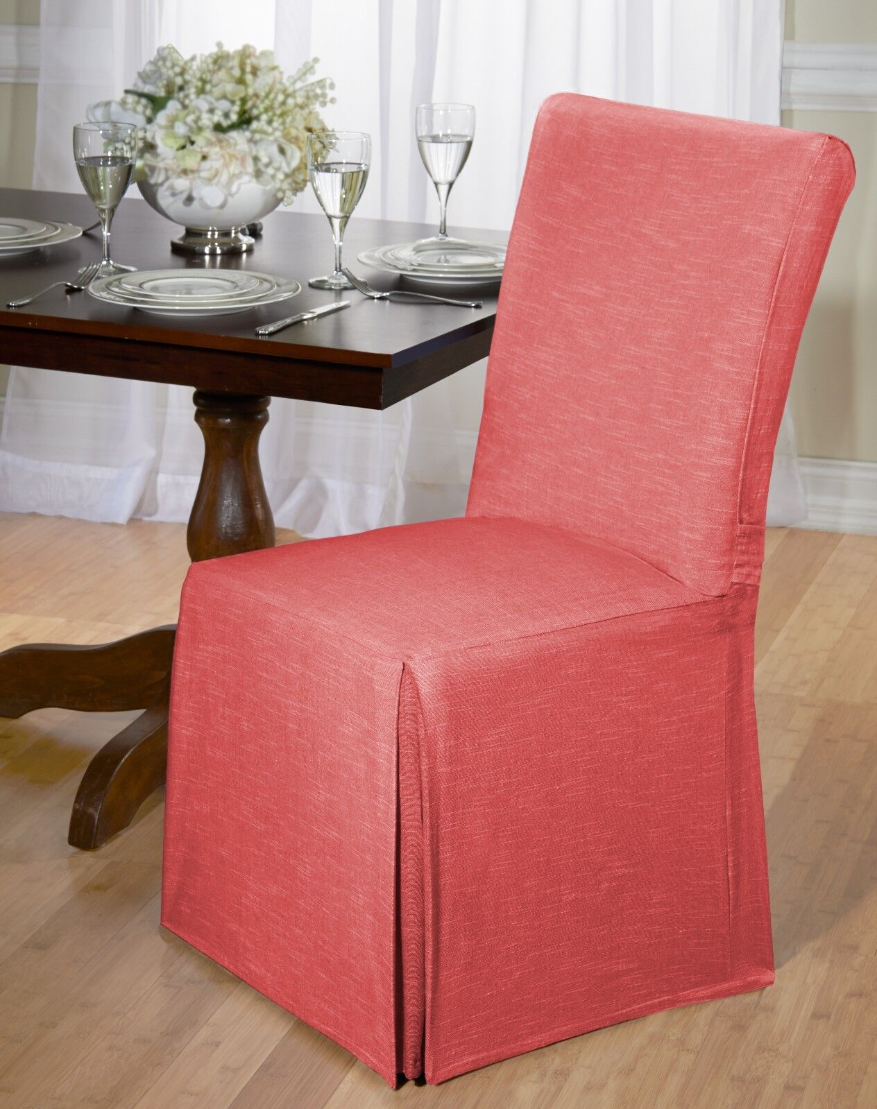 chair back covers for dining room chairs swivel leather luxurious cotton cover chambray tie