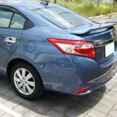 New Yaris Trd 2017 Jok Kulit All Kijang Innova Rear Spoiler Abs With Lamp For Toyota 4d Sedan Vios 2014 Image Is Loading