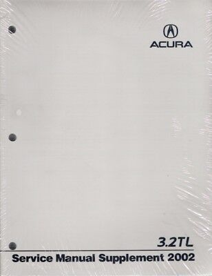 2002 Acura 3.2TL OEM Factory Service Manual Supplement
