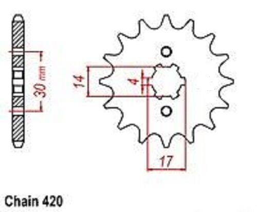 Lazer Moped SSR Motorsports 5 Sprocket Front 14 tooth