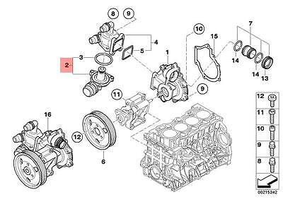 Genuine BMW E90 Saloon Engine Coolant Thermostat Housing