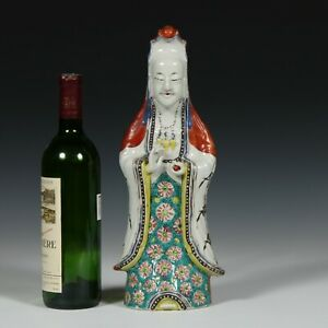 Large Antique Chinese Guanyin Porcelain Figure Qing 35CM