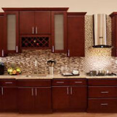 Kitchen Cabinets Wood Graff Faucets Cherryville All Cherry Stained Maple Group Item 5 Villa Sale Aaa Kcvc17