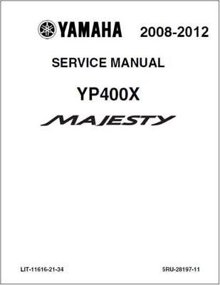 Yamaha Majesty 400 YP400 Service Repair Workshop Manual