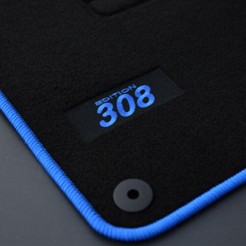 innenausstattung 4 tapis sol peugeot 308 2 active allure access moquette logo bleu specifique com