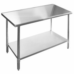 Kitchen Work Tables Black Table And Chairs Stainless Steel 24 X 60 Heavy Duty Apex Ebay