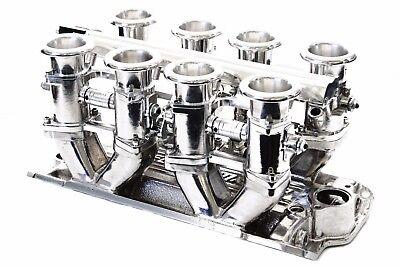 SBC Polished Aluminum EFI Fuel Injection Hilborn Style