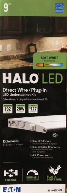 halo hu1009d930pr 9 led under cabinet direct wire accent lights soft white