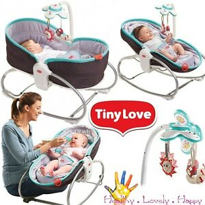 tiny love bouncer chair dining room head chairs 3in1 rocker napper baby sleeping feeding vibrating