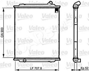 VALEO Engine Cooling Radiator Fits RENAULT TRUCKS Kerax