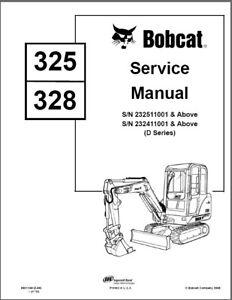 Bobcat 325 / 328 ( D-G Series ) Compact Excavators Service