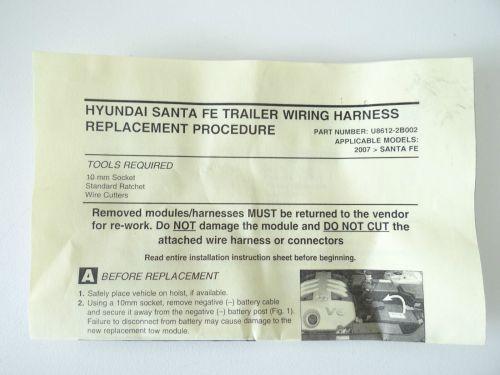 small resolution of 2010 to 2012 hyundai santa fe trailer towing wiring harness oem p n u8612 2b002 for sale online ebay