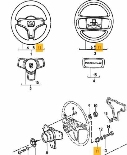 Genuine Porsche OEM 3 x steering wheel horn button