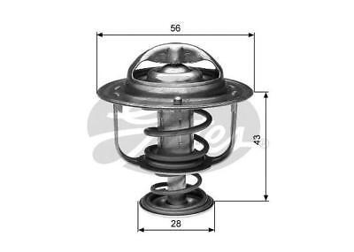 Gates Thermostat For Mitsubishi Triton 96-06 2.4 2WD (MK