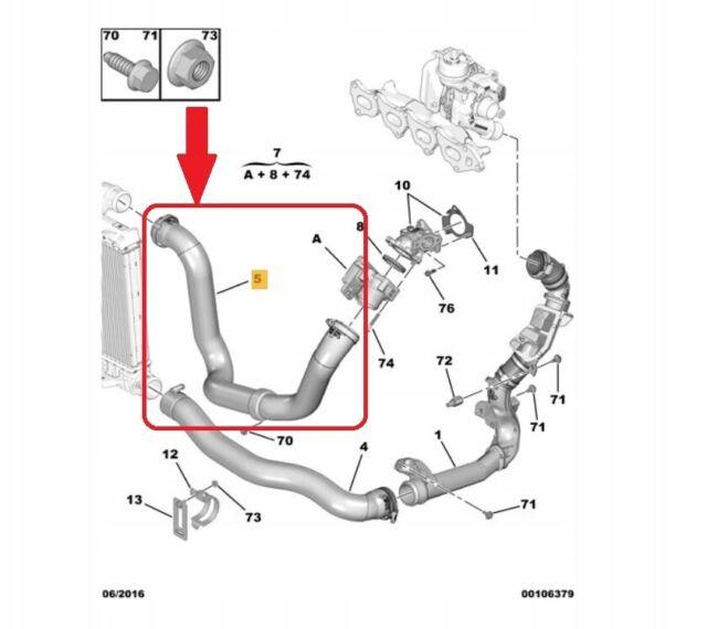 PEUGEOT EXPERT CITROEN JUMPY 2.0 HDI TUYAU D'INTERCOOLER