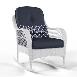 Visualizza altre idee su dondolo, sedia a dondolo, sedie. Blue Cushion Resin Wicker Patio Rocking Chair Outdoor Home Garden Furniture 7445003715736 Ebay
