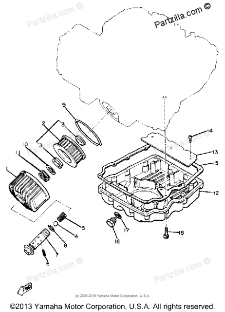 Yamaha Xj700 4bb-13414 Strainer Cover Gasket NOS Vintage