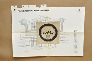 yamaha fj1200 wiring diagram digital multimeter vtg 1991 b bc factory color schematic wire image is loading