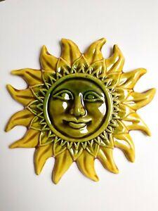 details sur soleil mm decoration murale ceramique emaillee decoration interieur exterieur