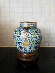 Superb Quality! Republic Chinese Cloissone Lidded Tea Caddy~Beautifu