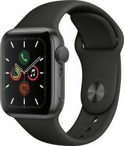 Apple Watch Series 5 44mm Space Gray Aluminum Black Band GPS MWVF2LL/A Brand New