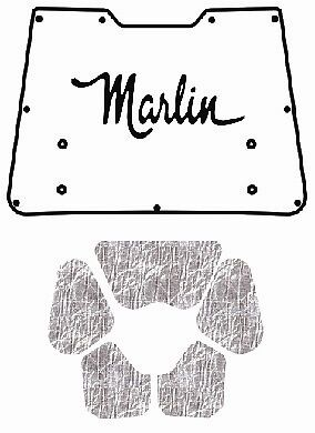 1965 1966 AMC Marlin Under Trunk Cover with A-030 Marlin