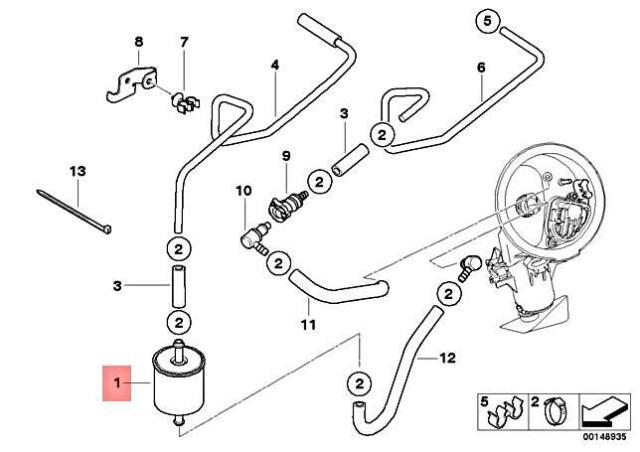 BMW K75 R850 K100 R1150 K1200 OEM Fuel Filter Made in