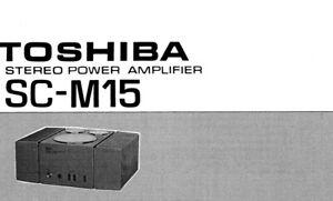 Toshiba sc-m15 Schematic Diagram Service Manual schaltplan
