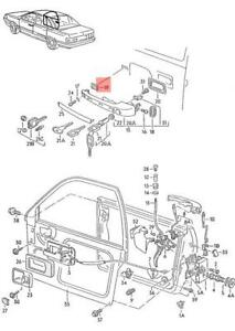 Genuine AUDI VW 100 Avant 5000 Turbo Golf underlay x5 pcs