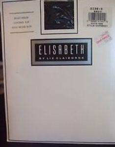 Elisabeth by liz claiborne silky sheer control top pantyhose navy size also nylon chart plus rh ebay