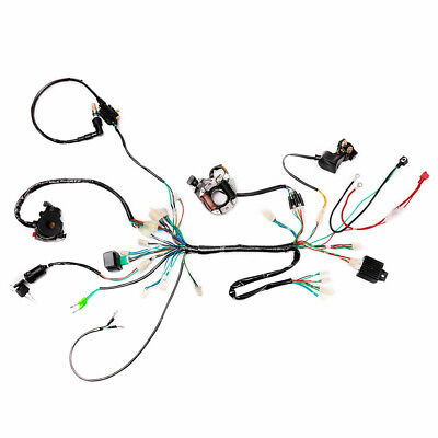 Complete Wiring Harness Coil Ignition CDI 50 90 110cc Quad