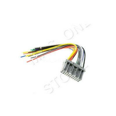 CAR STEREO CD PLAYER MALE WIRING HARNESS WIRE ADAPTER PLUG