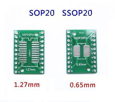 50PCS SOP20 SSOP20 TSSOP20 To DIP20 065127mm IC Adapter