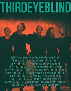 details about third eye blind 2017 european concert tour poster alt pop rock post grunge