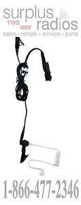 OEM MOTOROLA TWO WIRE CLEAR ACOUSTIC HEADSET WITH PTT
