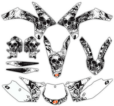 SKYLINE MX BONE CRUSHER MOTOCROSS DIRT BIKE GRAPHICS KIT