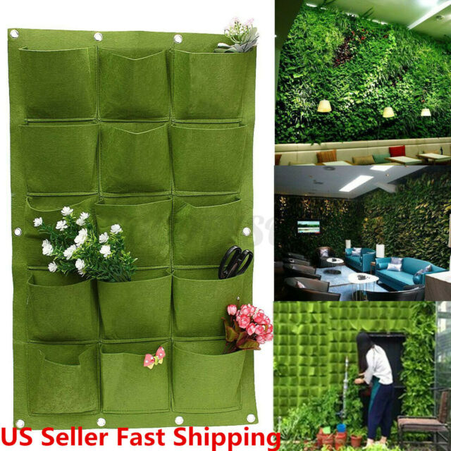 Modern Vertical Living Wall Planter Herb Garden Plastic Pot Indoor Outdoor For Sale Online Ebay