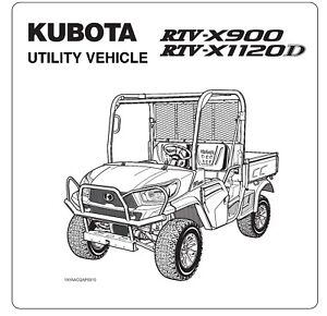Kubota RTV900 Utility Vehicle Operator's Manual on CD