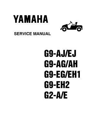 Yamaha Golf Cart G2 G9 Gas & Electric Service Repair