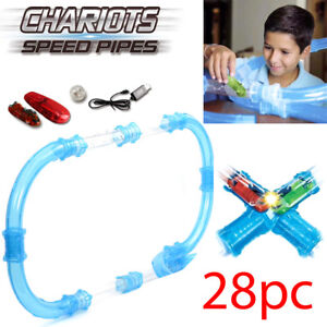 28PC REMOTE CONTROL CHARIOTS SPEED PIPE LINE RACING TRACK