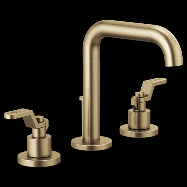 brizo 65335lf gllhp litze widespread faucet without handles luxe gold